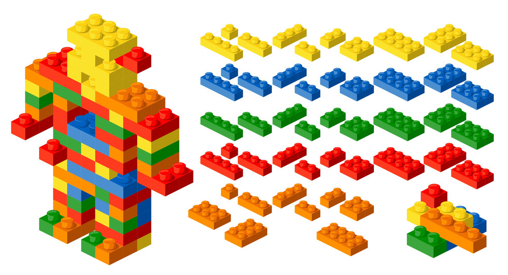 Actual Web-design Template. Vector Bubble Blocks.