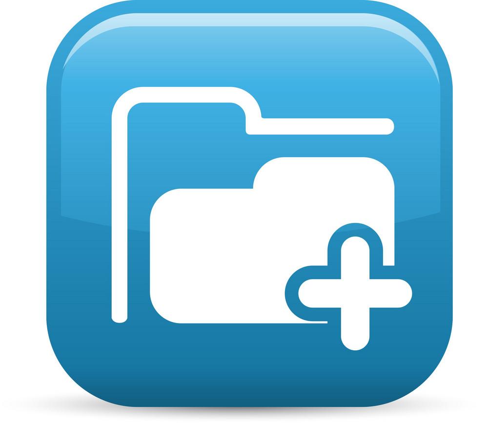 Add Folder Elements Glossy Icon