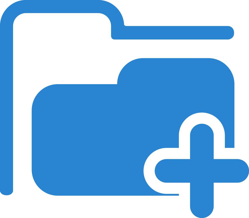 Add Folder Simplicity Icon