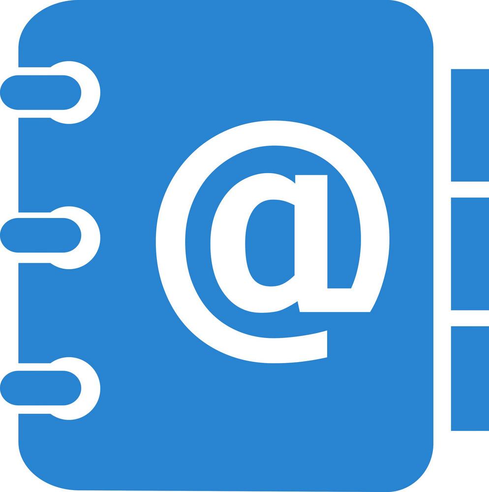 Address Book Simplicity Icon