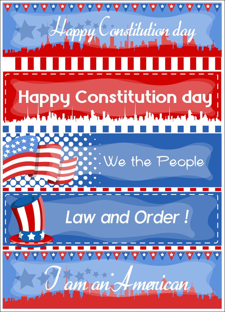 Advertisement And Web Banner Constitution Day Vector Illustration