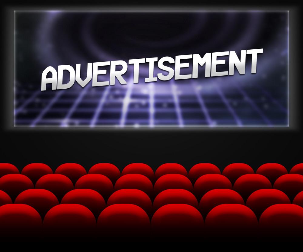 Advertisment In Cinema Background