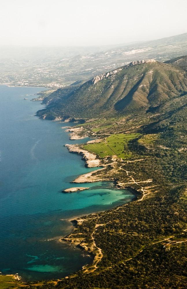 Aerial View Of Mediterranean Coastline