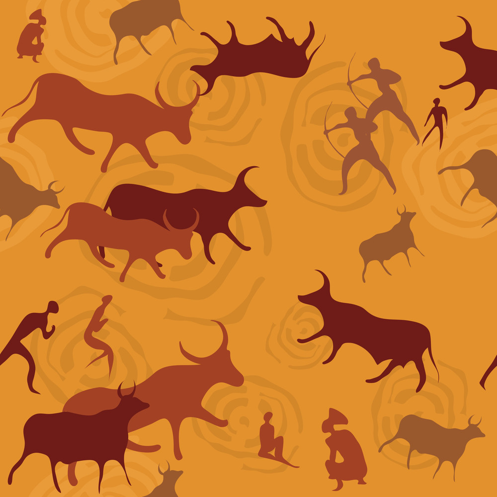 African Indigenous Tiled Wild Animal Texture