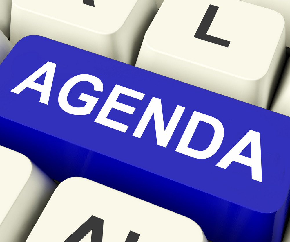 Agenda Key Means Schedule Or Outline
