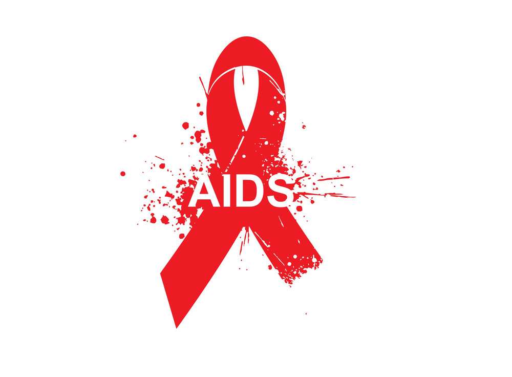 Aids Awareness Symbol Of Grunge Elements And Red Ribbon Royalty Free