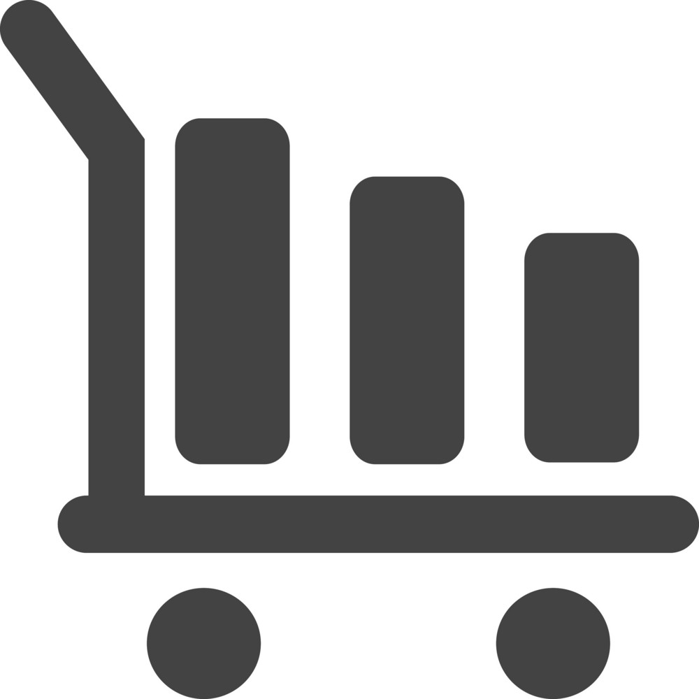 Airport Trolley Glyph Icon