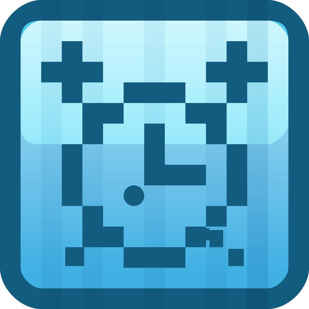 Alarm Clock Blue Tiny App Icon