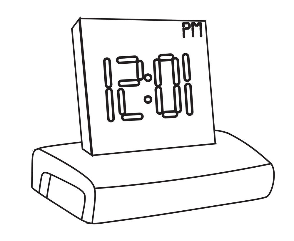 alarm clock drawing royalty-free stock image