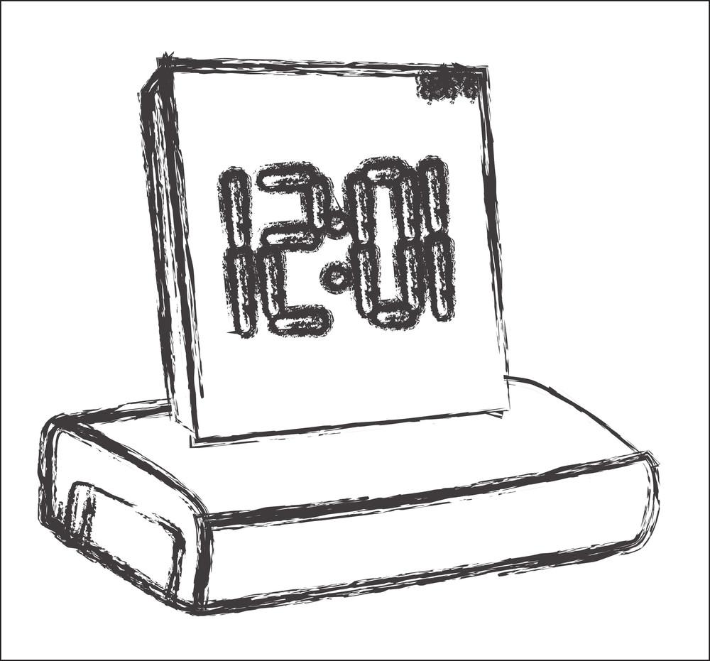 Alarm Clock Vector Sketching