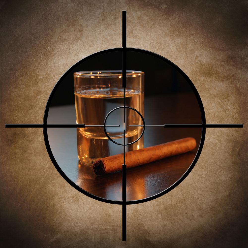 Alcohol And Cigar Target