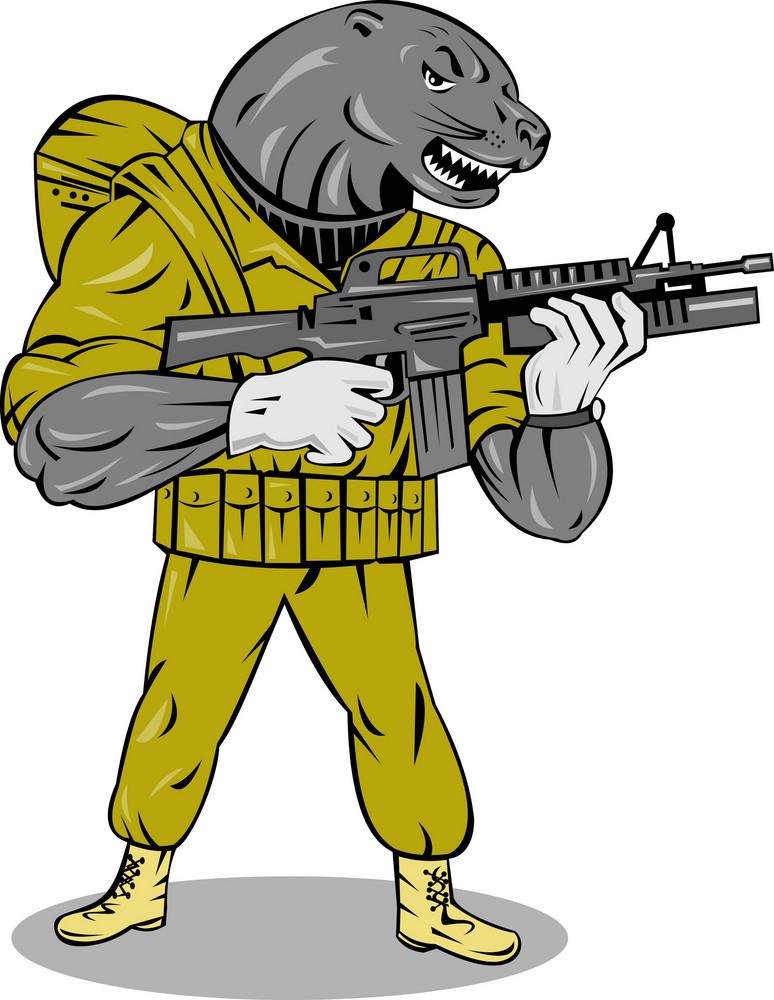 Alien Military With Gun