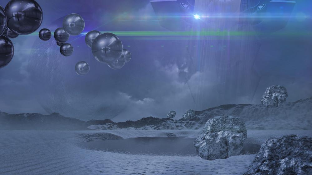 Alien World In Blue