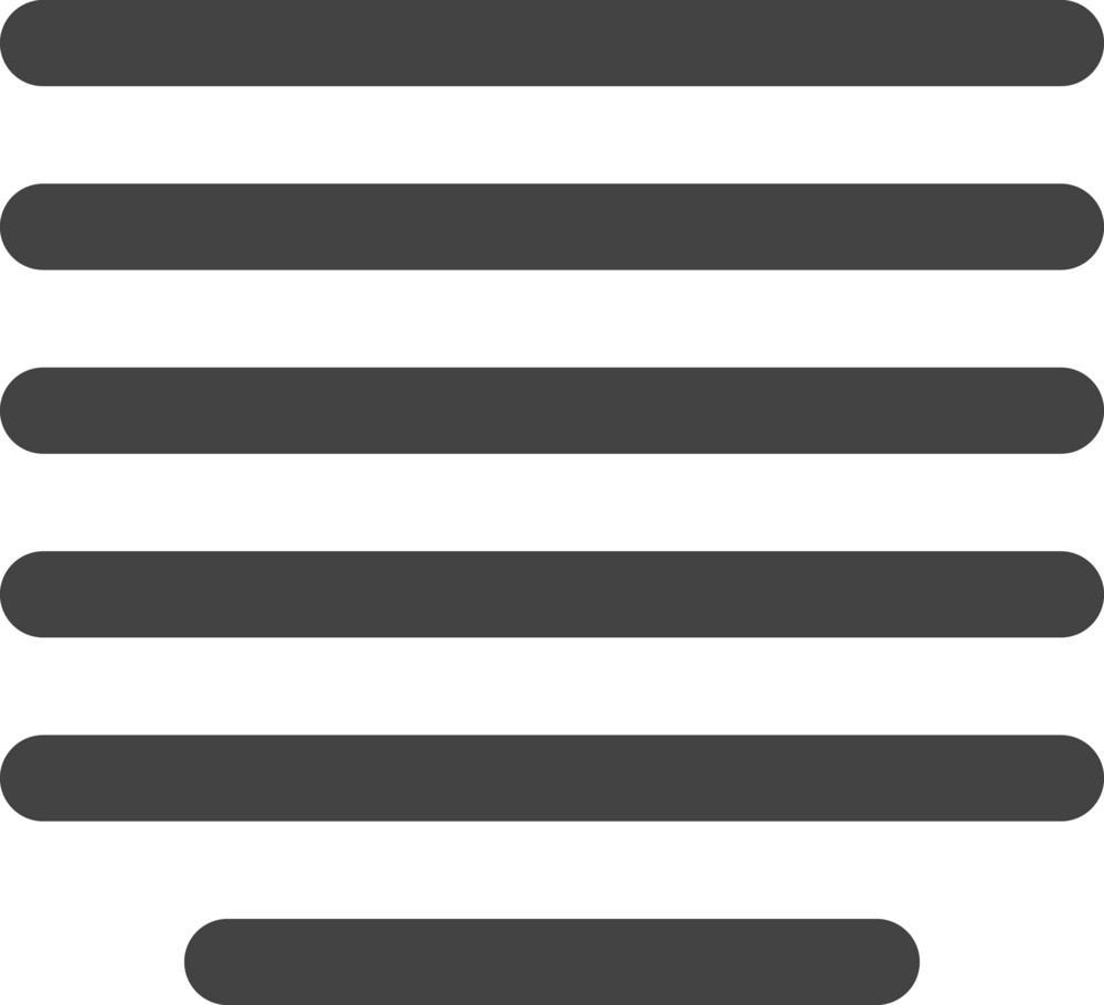 Align Mid Glyph Icon