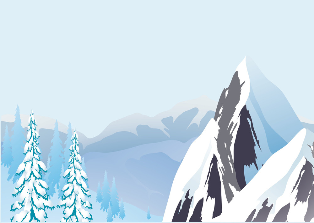 Alpine Landscape. Vector.