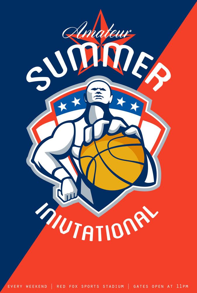 Amateur Summer Invitational Basketball Poster