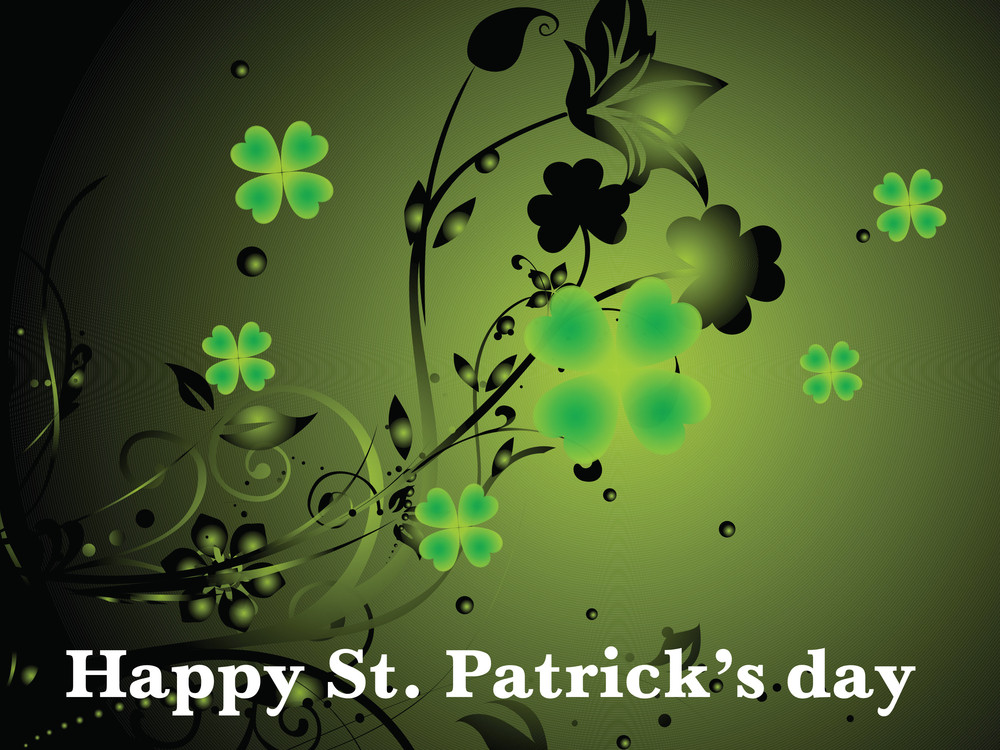Amazing Shamrock Floral Vector 17 March