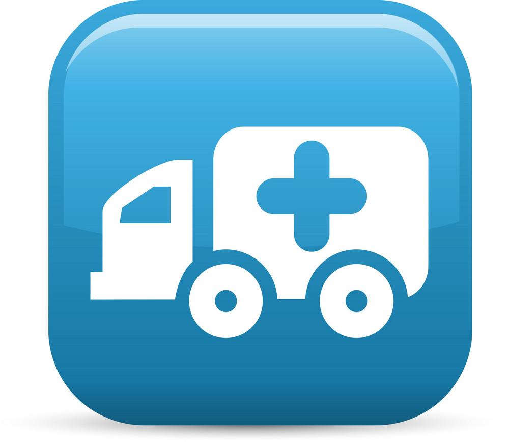 Ambulance Elements Glossy Icon