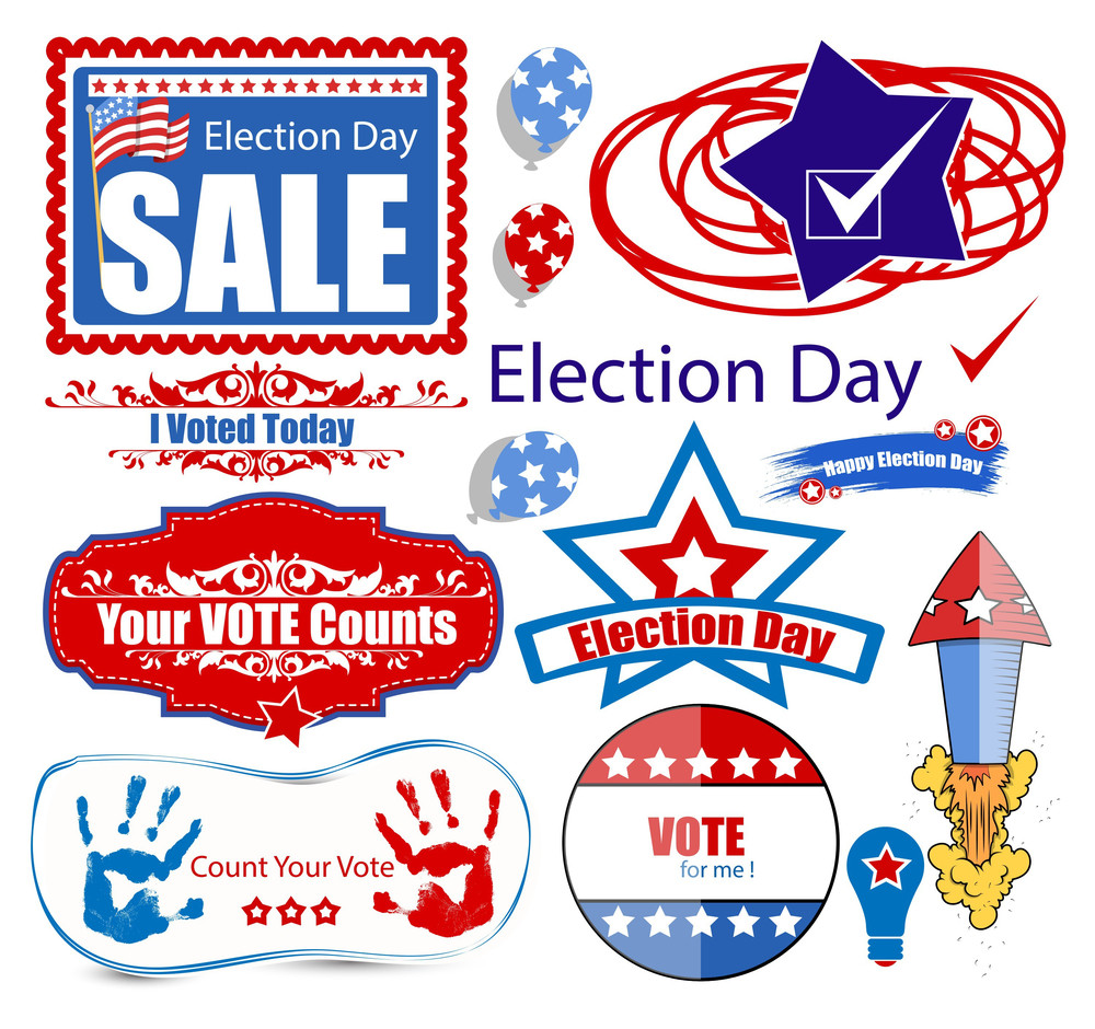 America Election Day Sale Graphics Set