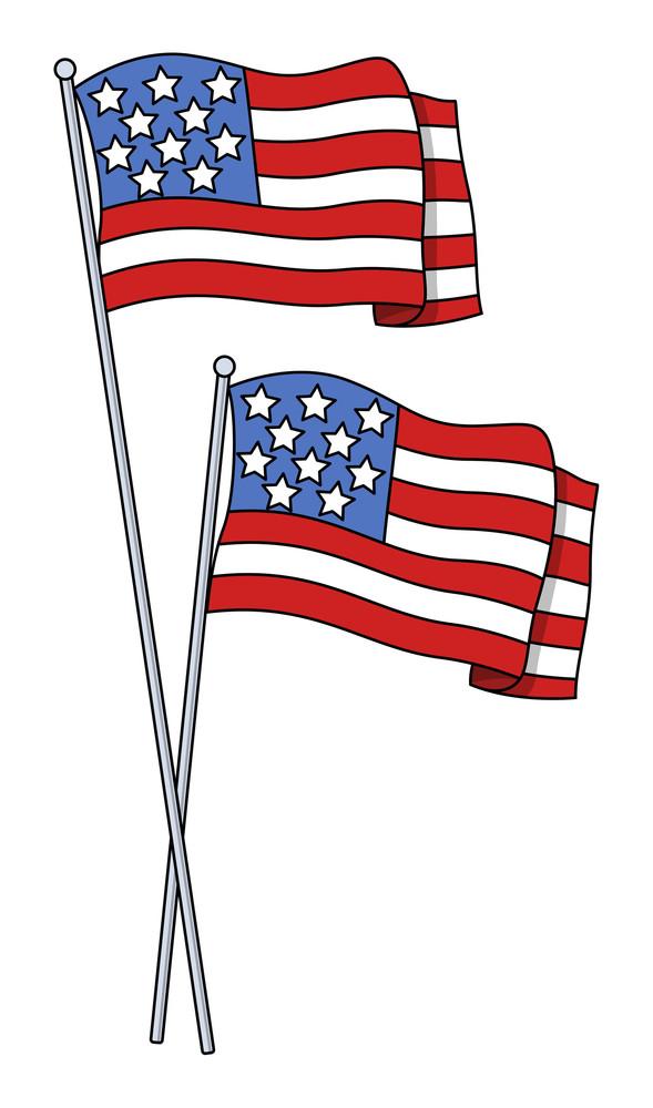 America Flags Vector