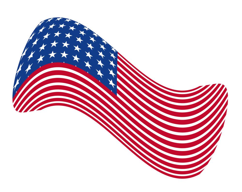 America Wavy Flag