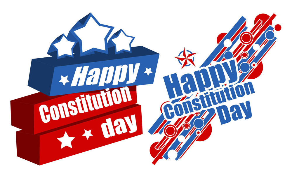 American Constitution Day Vector Illustration