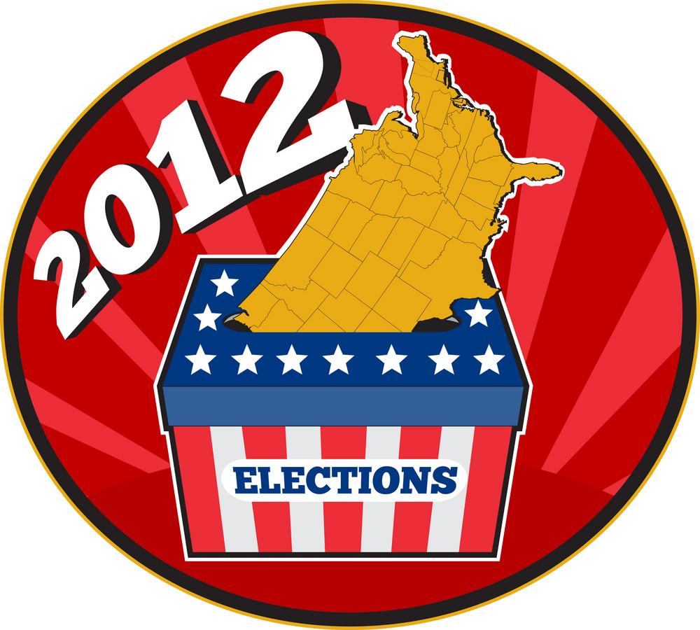 American Election Ballot Box Map Of Usa 2012