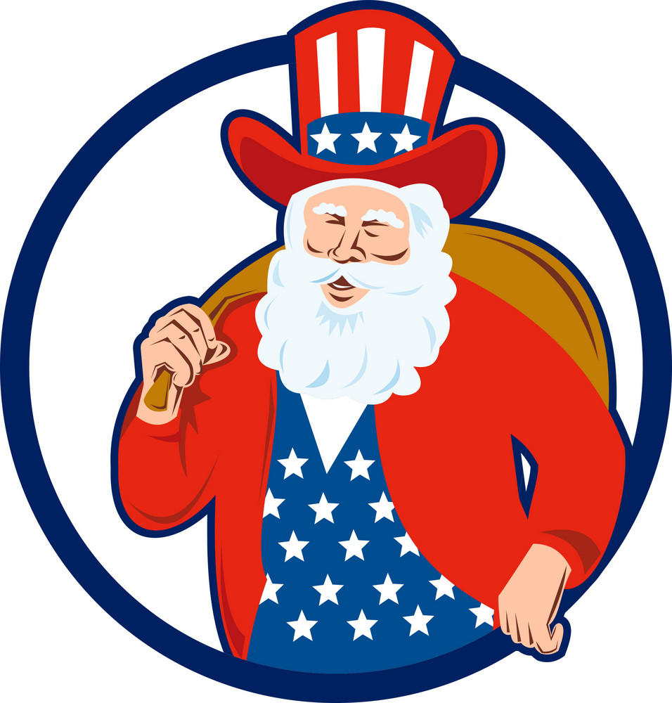American Father Christmas Santa Claus