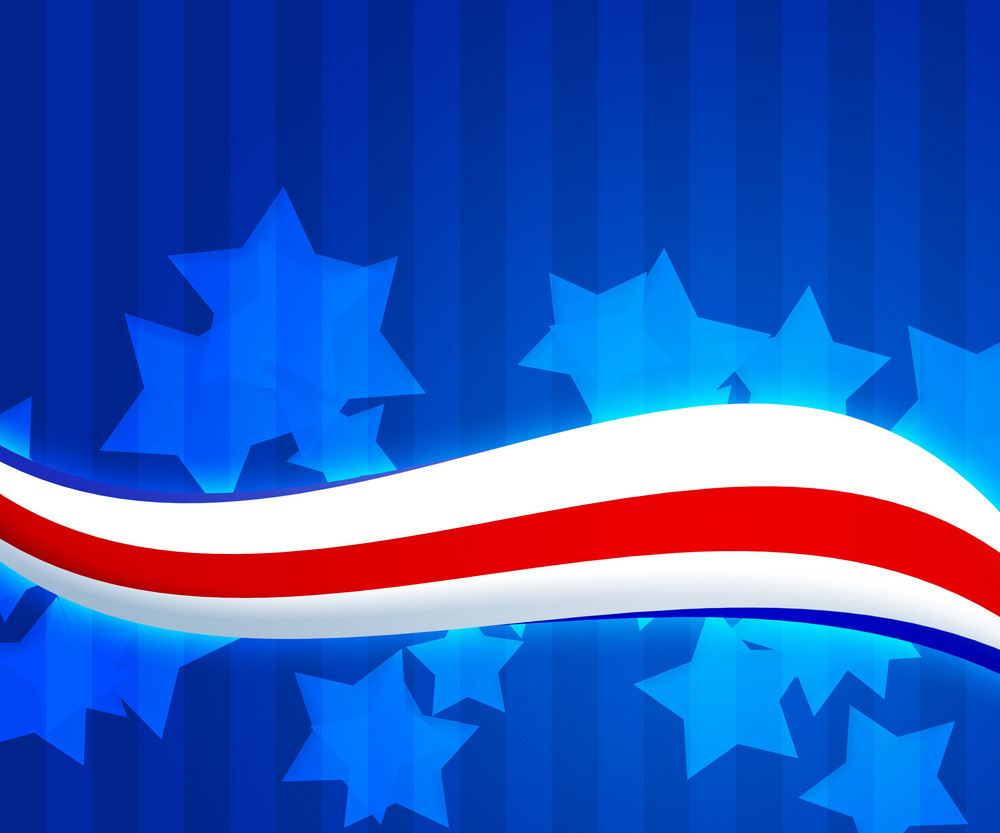 American Flag 4th July Background