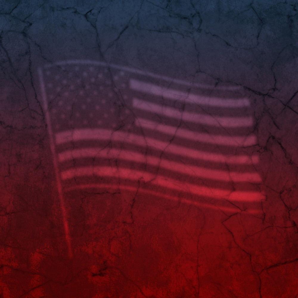 American Flag On Marble Texture