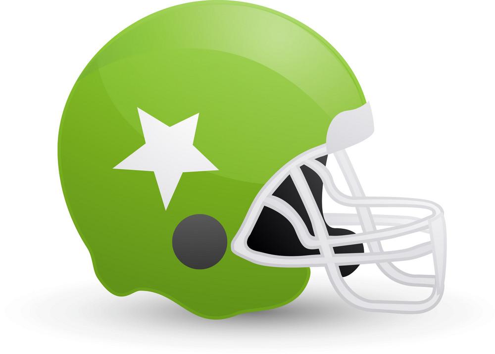 American Football Helmet Green Lite Sports Icon