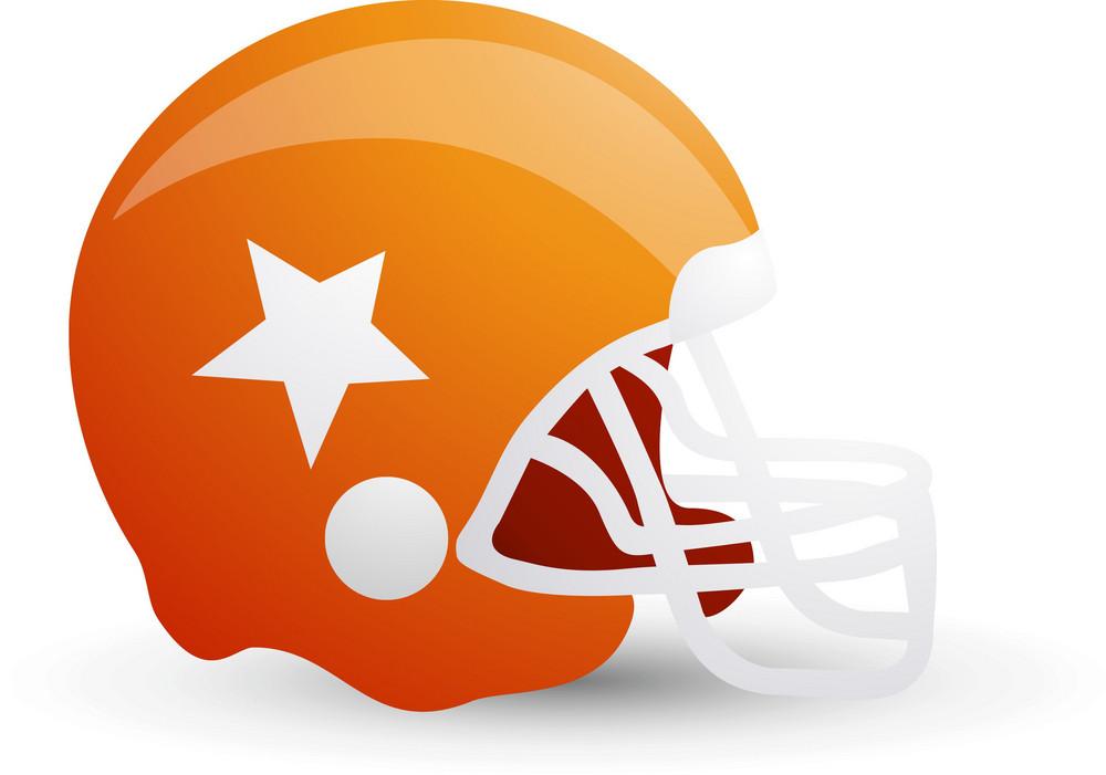 American Football Helmet Orange Lite Sports Icon