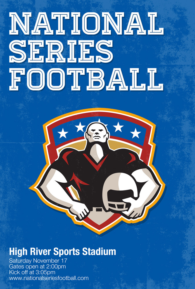 American Football National Series Poster Art