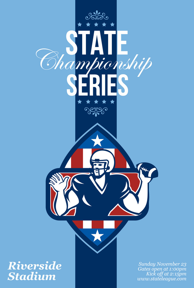 American Football State Championship Series Poster