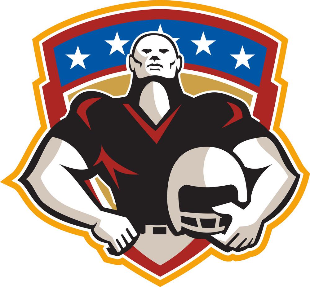 American Football Tackle Linebacker Helmet Shield