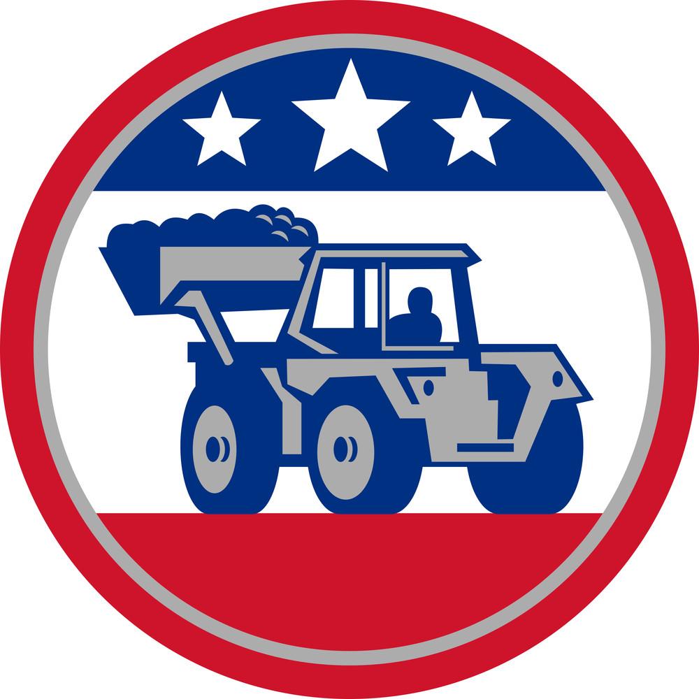 American Mechanical Digger Excavator Retro
