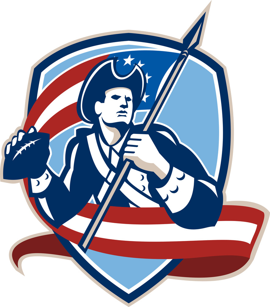 American Patriot Football Quarterback Shield