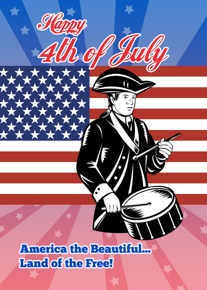 American Patriot July 4th Poster Greeting Card