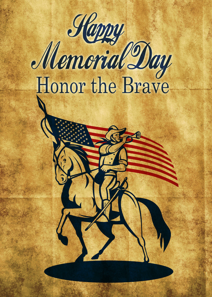 American Patriot Memorial Day Poster Greeting Card