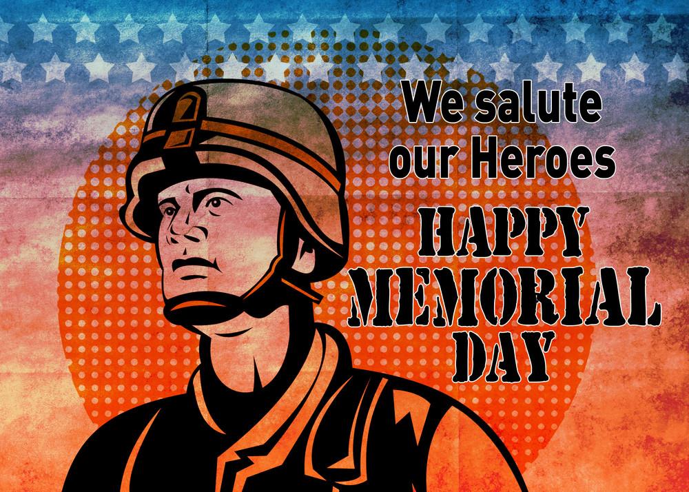 american patriot memorial day poster greeting card royalty free
