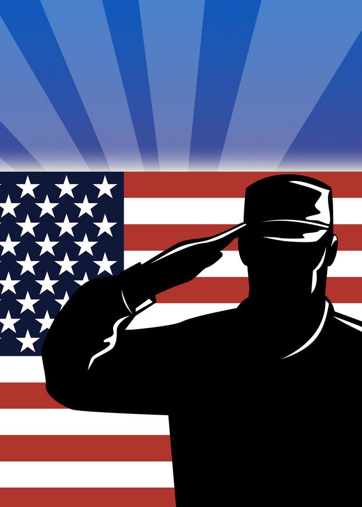 American Patriot Poster Greeting Card