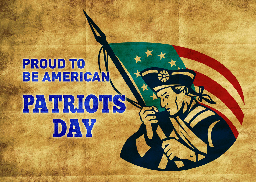 American Patriot's Day Poster Greeting Card