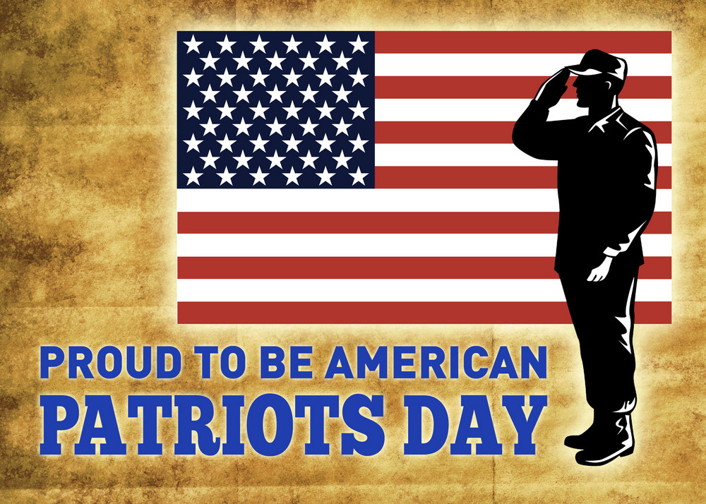 american patriots day poster greeting card royalty free stock image