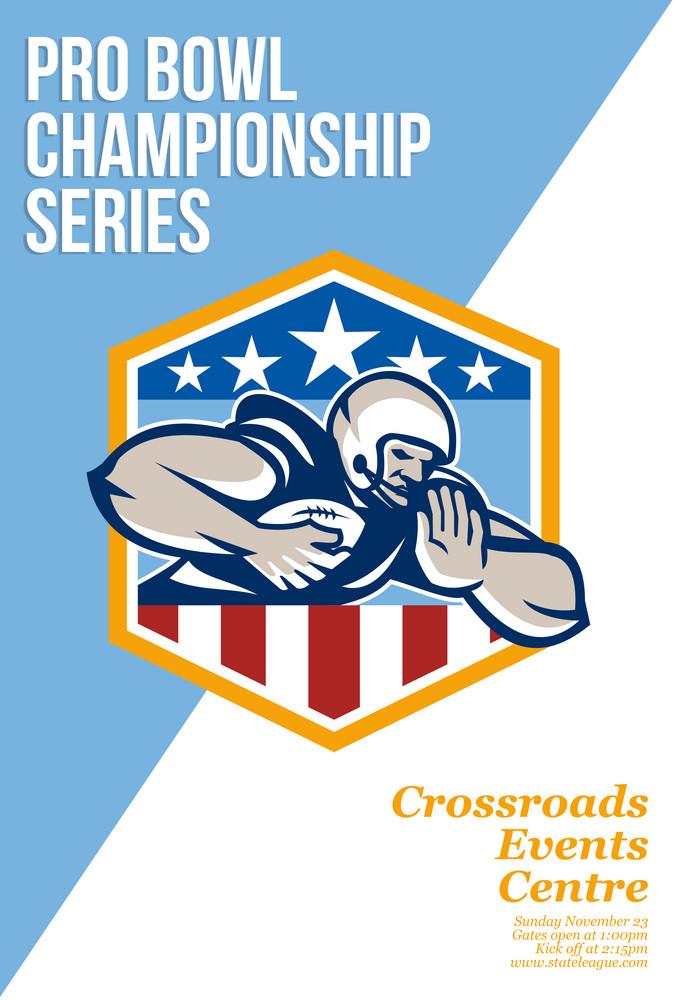 American Pro Football Championship Poster