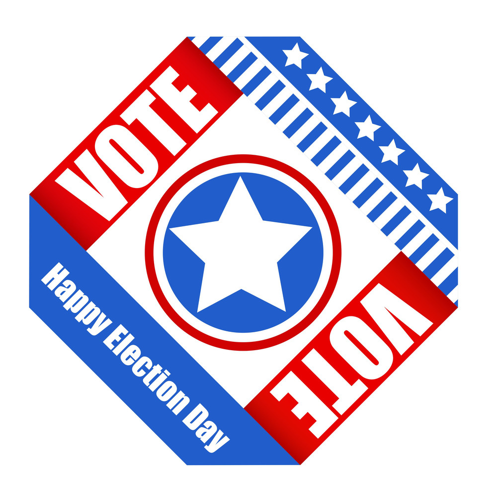 American Voting Design Vector  For Election Day