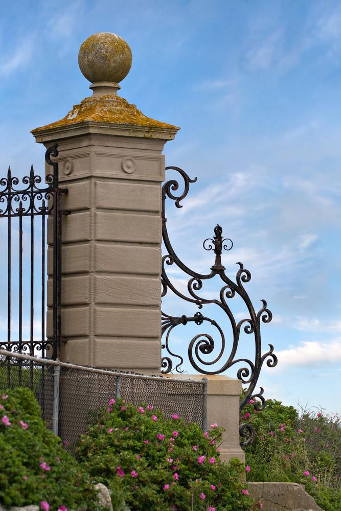 An antique gate found along the historic Newport Rhode Island cliff walk.