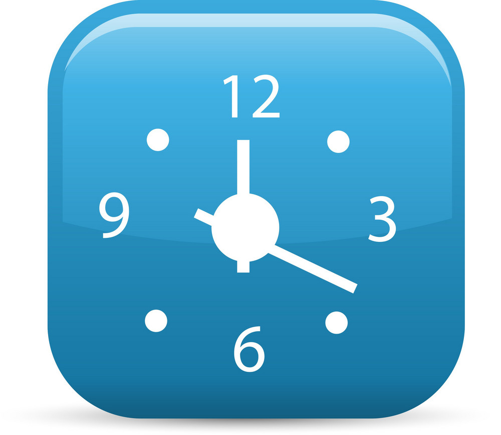 Analog Clock Elements Glossy Icon