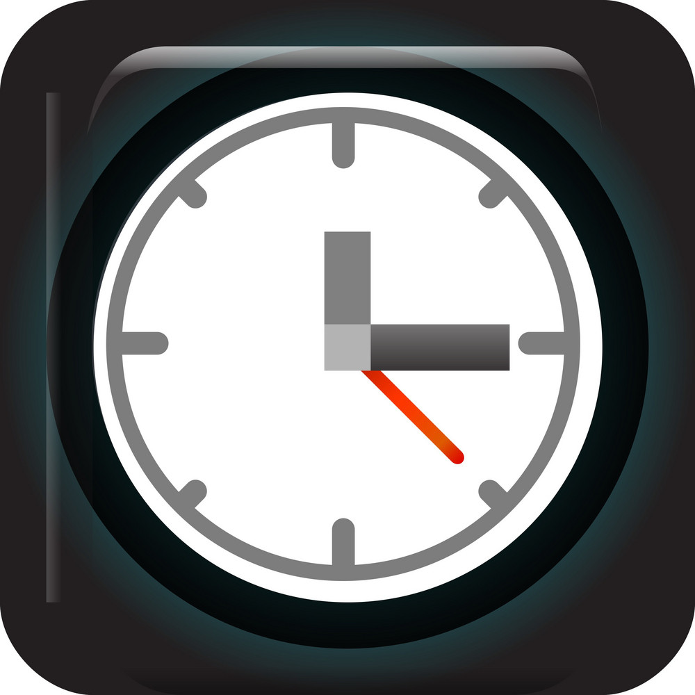 Analog Clock Tiny App Icon Royalty-Free Stock Image - Storyblocks Images