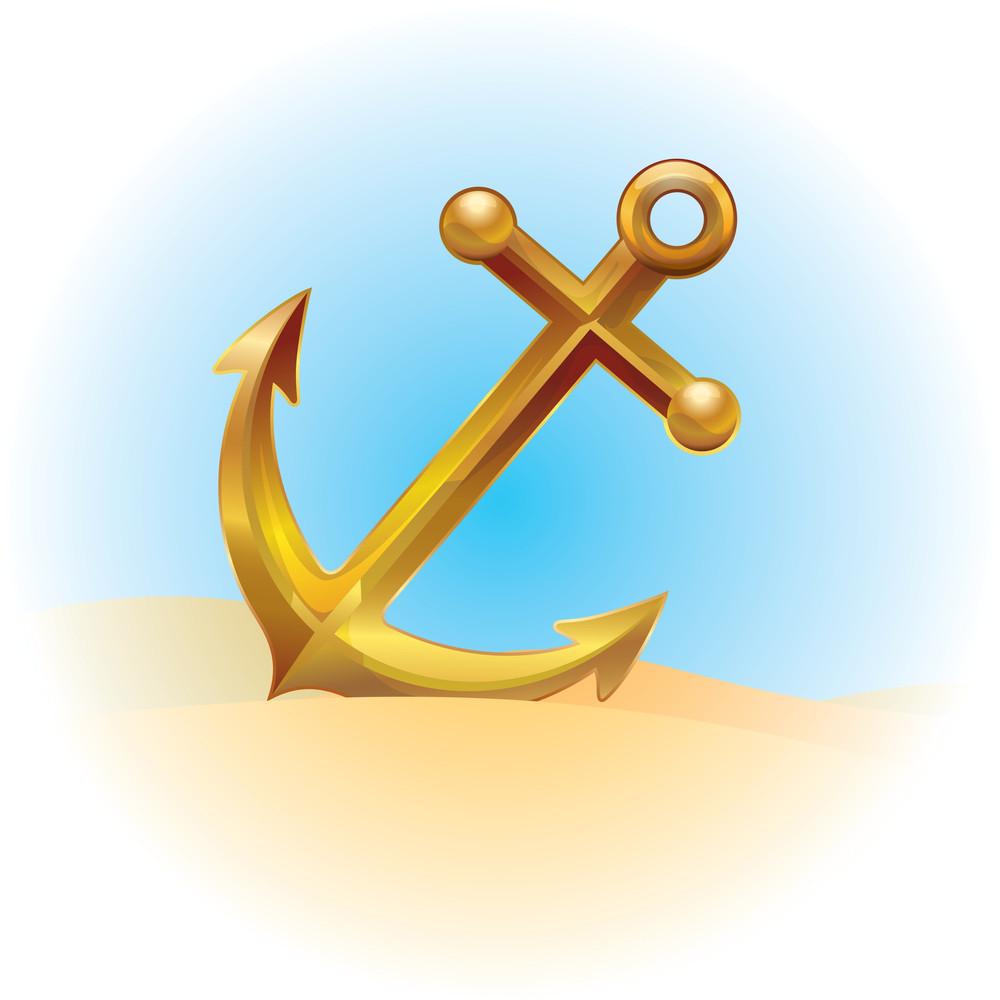 Anchor. Vector.