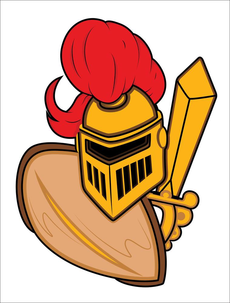 Ancient Armor Mascot Vector Illustration